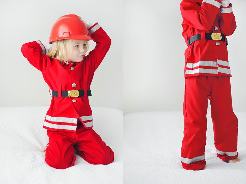Дети Пожарный Костюмы - m