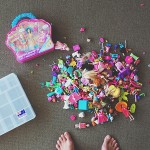 I have been meaning to deal with Polly Pocket and her teeny tiny mess for ages!