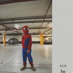 I will always remember this as the birthday he wore a Spiderman costume everywhere.