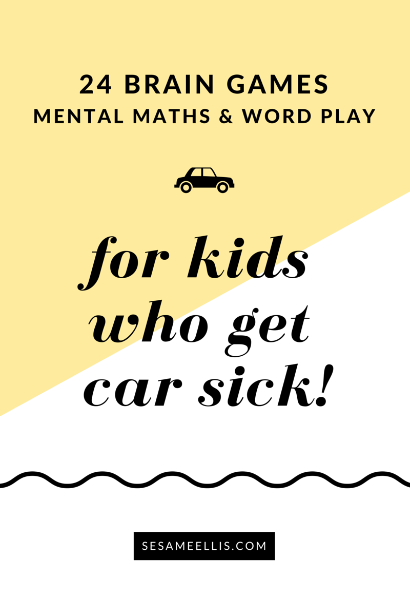 24 car games for kids who easily get car sick