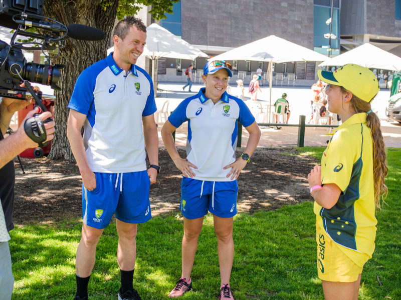 Gemma and cricket stars Peter Siddle and Alyssa Healy