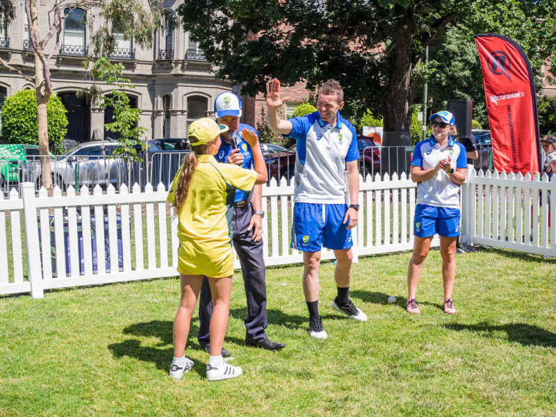 Gemma Bupa cricket master class with Peter Siddle and Alyssa Healy